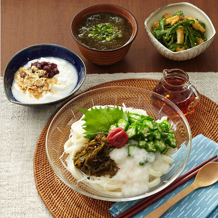 ネバネバぶっかけうどん定食【550kcal】【食塩相当量4.1g】
