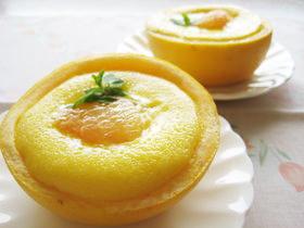 グレープフルーツカップのチーズケーキ